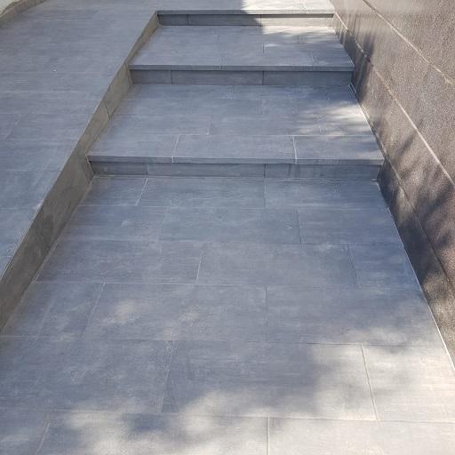פרויקט חיפוי חוץ ריצוף חוץ מדרגות ריצוף פנים ומקלחון בכפר ברוך